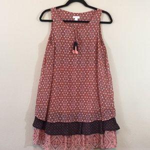XhilarationChiffon Sleeveless Dress- LayerBottom L